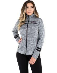 FXR Elevation Zip-Up Tech Womens Sweatshirt Heather Grey/Plum