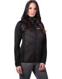 FXR Phoenix Quilted Hoodie Womens Sweatshirt Black