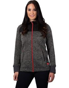 FXR Fusion Hoodie Sweater Heather Charcoal/Coral