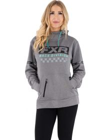 FXR Rave Division Pullover Hoodie Womens Sweatshirt Grey/Pink