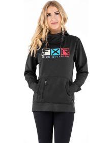 FXR Helium Tech Pullover Hoodie Womens Sweatshirt Black/Sky Blue