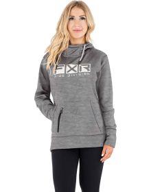 FXR Helium Tech Pullover Hoodie Womens Sweatshirt Grey/Bone