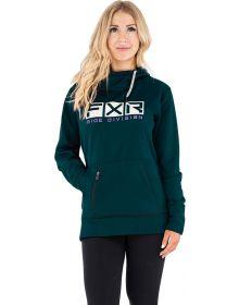 FXR Helium Tech Pullover Hoodie Womens Sweatshirt Ocean/Bone