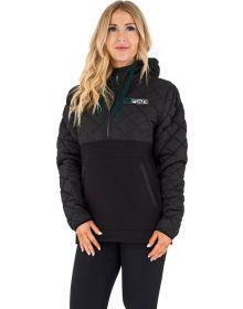 FXR Tracker Pullover Hoodie Womens Sweatshirt Black/Ocean