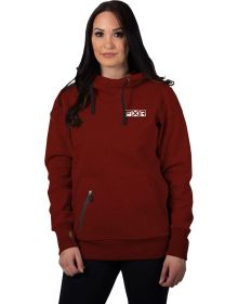 FXR Factory Ride Pullover Hoodie Womens Sweatshirt Rust/Bone