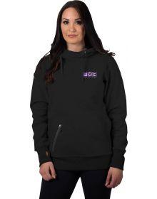 FXR Factory Ride Pullover Hoodie Womens Sweatshirt Black/Lilac
