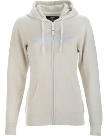 Fly Racing Corporate Womens Zip-Up Sweatshirt Ivory