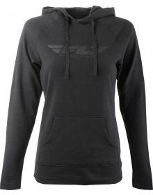 Fly Racing Lightweight Womens Hoodie Sweatshirt Black