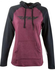 Fly Racing Lightweight Womens Hoodie Sweatshirt Burgundy