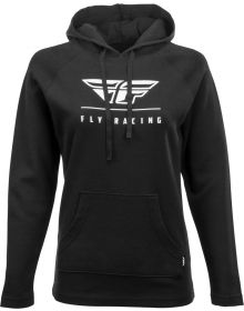 Fly Racing Crest Womens Hoodie Sweatshirt Black