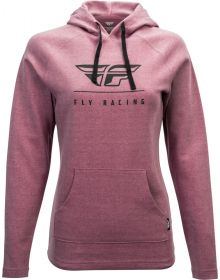 Fly Racing Crest Womens Hoodie Sweatshirt Mauve