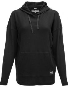 Fly Racing Oversized Womens Pullover Hoodie Sweatshirt Black