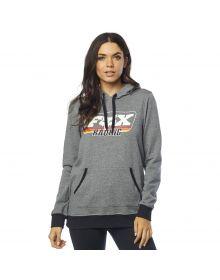Fox Racing Retro Womens Pullover Sweatshirt Heather Graphite