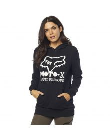 Fox Racing Drip Womens Pullover Sweatshirt Black