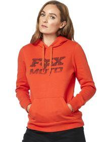 Fox Racing Die Hard Womens Pullover Sweatshirt Atomic Orange