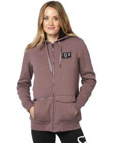Fox Racing Lit Up Sherpa Womens Zip Sweatshirt Purple