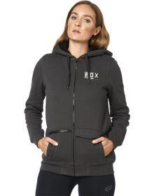 Fox Racing Lit Up Sherpa Womens Zip Sweatshirt Black