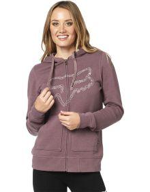 Fox Racing Barstow Womens Zip Sweatshirt Purple