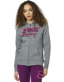 Fox Racing Qualifier Womens Zip-Up Sweatshirt Heather Graphite