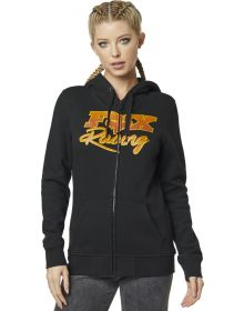 Fox Racing Qualifier Womens Zip-Up Sweatshirt Black