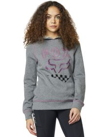 Fox Racing Richter Womens Pullover Sweatshirt Heather Graphite