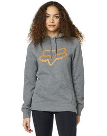 Fox Racing Centered Womens Pullover Sweatshirt Gray/Orange