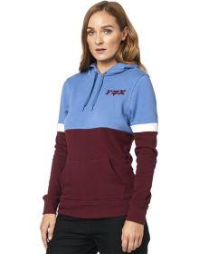 Fox Racing Red Flag Womens Sweatshirt Blue
