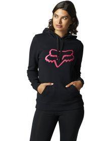 Fox Racing Boundary Womens Pullover Sweatshirt Black/Pink