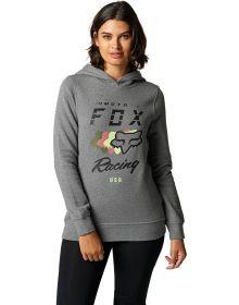 Fox Racing Checkpoint Womens Sweatshirt Heather Graphite