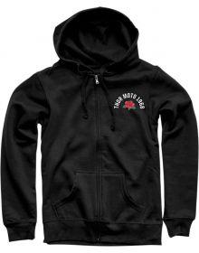 Thor Rose Womens Zip-Up Sweatshirt Black