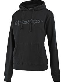 Troy Lee Designs Signature Womens Pullover Sweatshirt Black