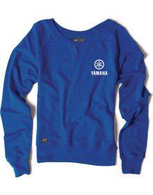 Factory Effex Yamaha Womens Crew Sweatshirt Blue