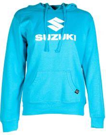 Factory Effex Suzuki Womens Pullover Sweatshirt Aquamarine