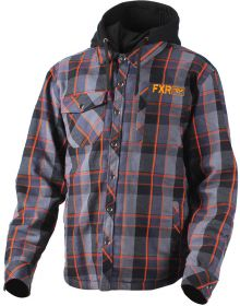 FXR 2018 Timber Plaid Insulated Jacket Charcoal/Orange