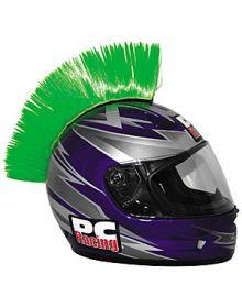 PC Racing Helmet Mohawk Green