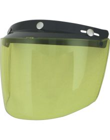 AFX Flip Three-Snap Visor Yellow