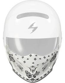 Scorpion Covert Helmet Face Mask Bandana White