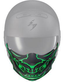 Scorpion Covert Helmet Face Mask Bandana Samurai Glow Green