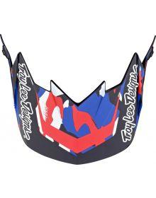 Troy Lee Designs GP Helmet Visor Overload Camo Navy/Red