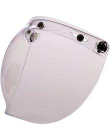 Z1R Flip Up Bubble 3-Snap Shield Clear