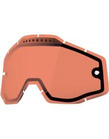100% Dual-Pane Vented Goggle Lenses Rose Anti-Fog