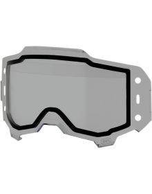100% Forecast Goggle Roll-Off Replacment Dual Lens Smoke