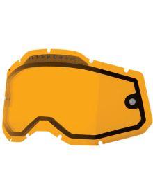 100% Accuri2/Racecraft2/Strata2 Replacement Dual Pane Vented Lens Persimmon