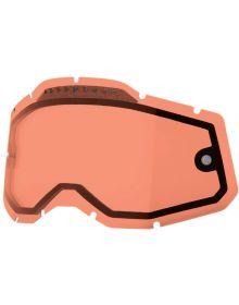 100% Accuri2/Racecraft2/Strata2 Replacement Dual Pane Vented Lens Rose