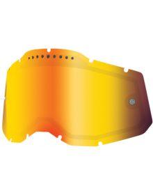 100% Accuri2/Racecraft2/Strata2 Replacement Dual Pane Vented Lens Red Mirror