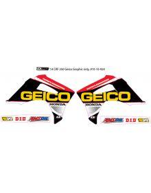 D'Cor Visuals Geico Honda Graphic Kit CRF250 (14) CRF450 (13-14)