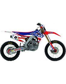 D'Cor Visuals Geico MXDN Honda Graphic Kit CRF250 (14-15) CRF450 (13-15) - White
