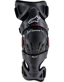 Alpinestars Fluid Tech Carbon Knee Brace Pair Black/Red/White