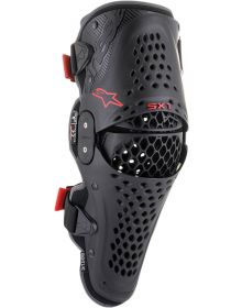Alpinestars SX-1 V2 Knee Guards Black/Red