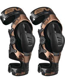 EVS Axis Pro Carbon Knee Braces Pair Black/Copper